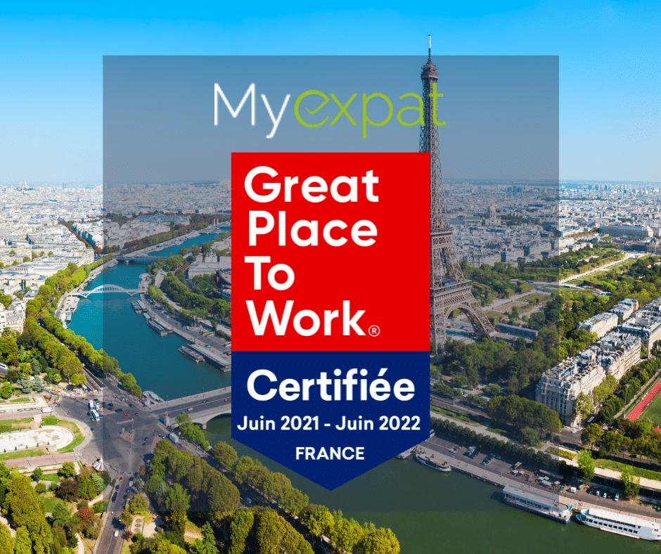 My expat devient un des rares acteurs immobiliers à recevoir la certification 'Great Place to Work'